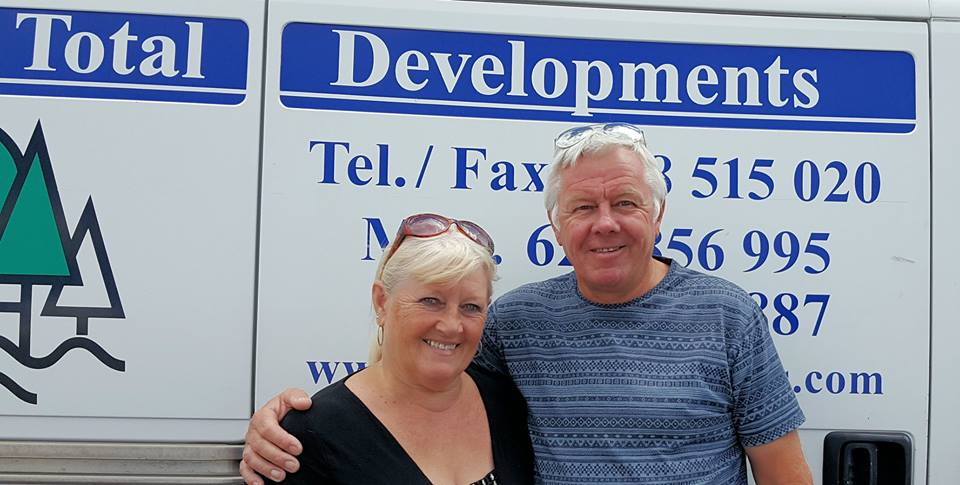 Richard and Linda Barrie from Total Developments in Lanzarote